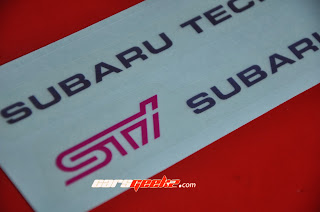 STI Door Sticker OEM / decal / vinyl Subaru Tecnica International -
