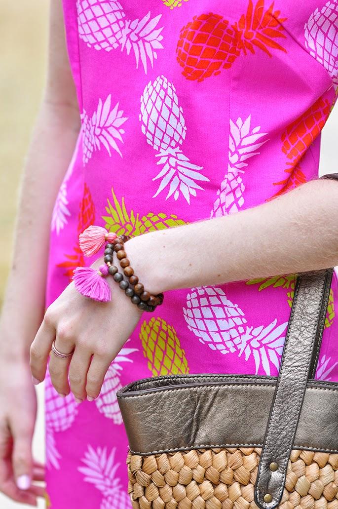 Gold and Gray tassel bracelets