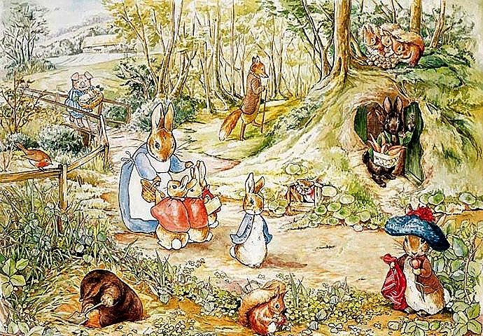 art now and then beatrix potter