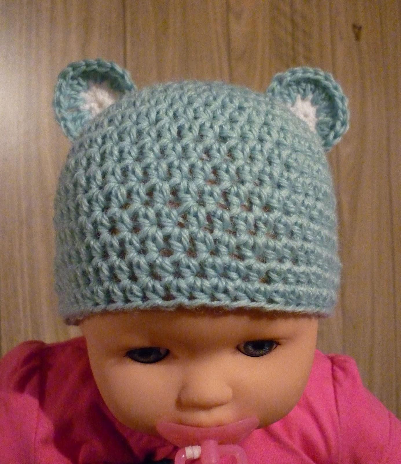 Crochet Bear Hat Free Pattern : Mamma That Makes: Little Blue Bear - Newborn - Free ...