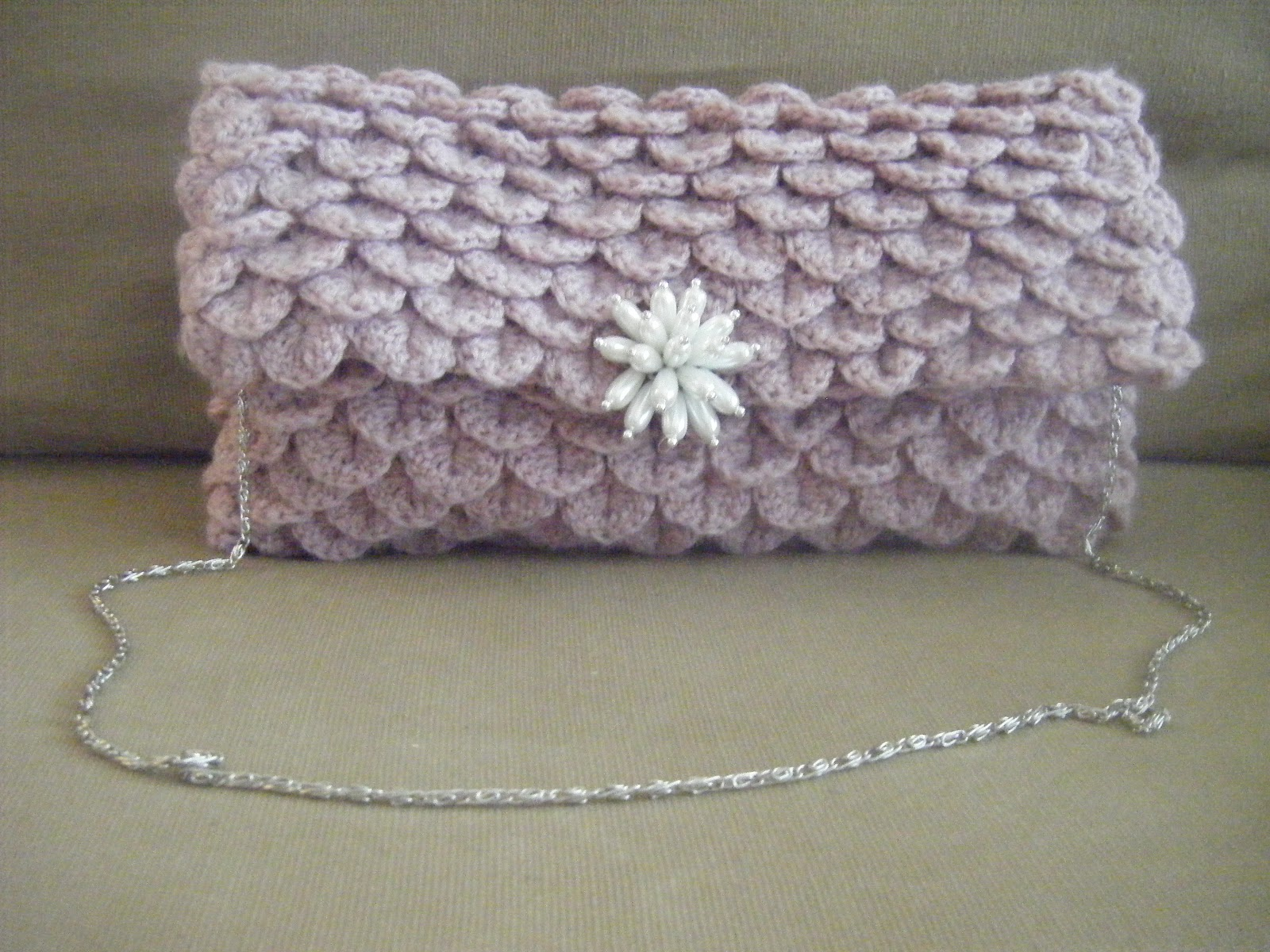 Crochet Clutch Lace Pattern : Best Patterns: Clutch Crocodile Oversize Crochet Pattern