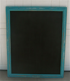 Peacock Blue Chalkboard (SOLD)