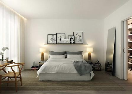 Love you big peaceful bedroom for Bedroom shelves inspiration