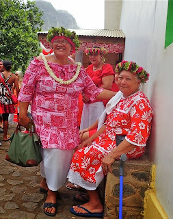 Marquesa locals, french polynesia, cruiser activities