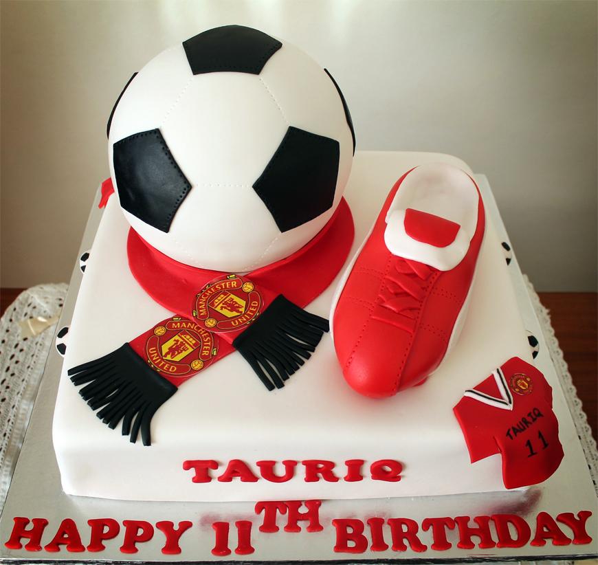 Delana S Cakes Manchester United Soccer Themed Cake