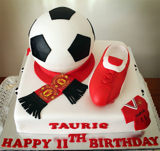 Birthday Cake Images With Name Manu : Delana s Cakes: Manchester united Soccer Themed Cake