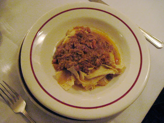 The signature dish of Lasagna at Marchi's Restaurant in New York