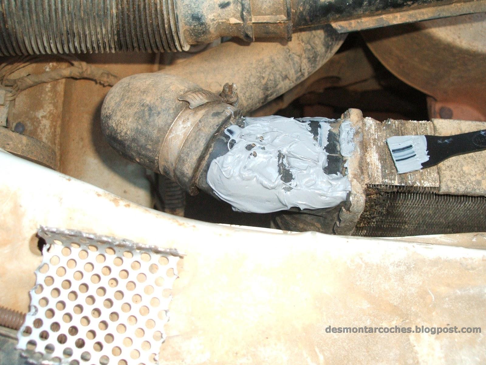 Reparar fuga radiador coche