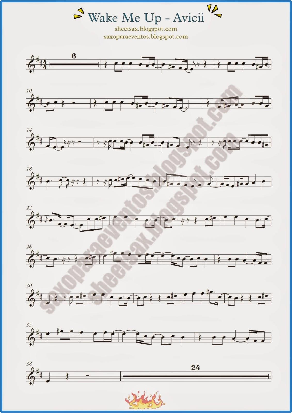 Wake Me Up Trumpet Sheet Music