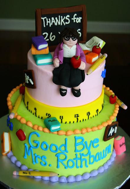 Claudine Happy Retirement Cake