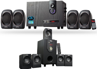 Buy Zebronics 4.1 & 5.1 Multimedia speaker set at Extra 25% discount