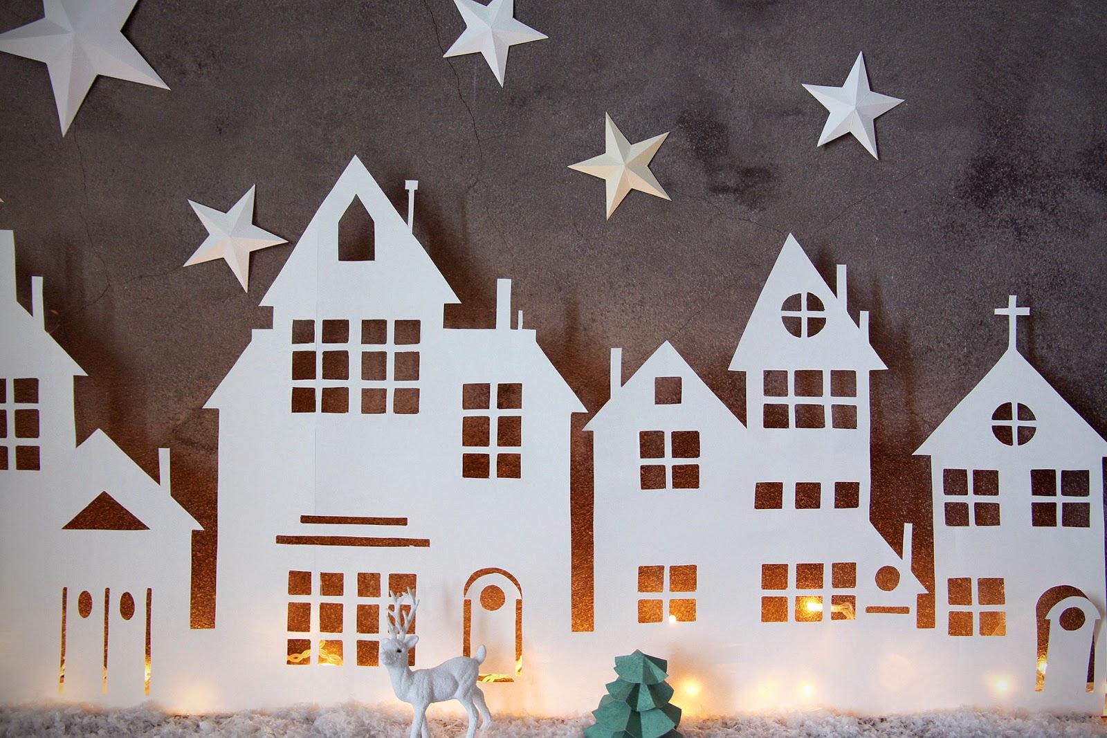 #AA5E22 DIY :: VILLAGE LUMINEUX DE NOËL 6117 décoration de noel village 1600x1067 px @ aertt.com