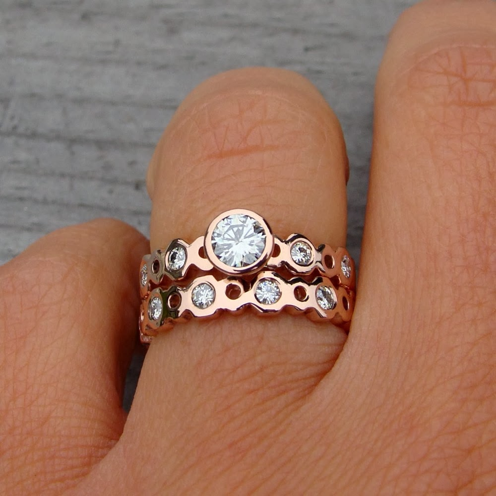 rose gold engagement rings rose gold engagement rings on hand
