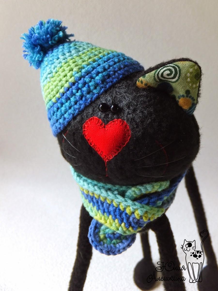 черный кот игрушка