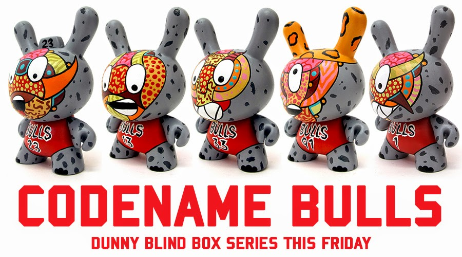 """Codename Bulls"" Custom Dunny Blind Box Series by Sekure D"