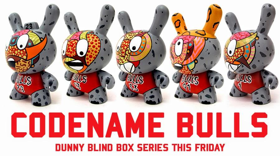 """""""Codename Bulls"""" Custom Dunny Blind Box Series by Sekure D"""