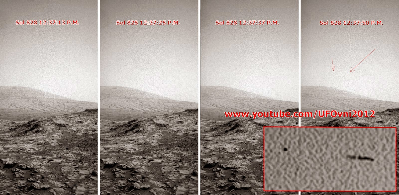 Ancient Aliens On Mars: Orb et Géant OVNI (Oiseau) photographié par Curiosity NASA