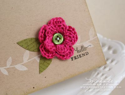 SMALL CROCHET FLOWER PATTERN | Crochet For Beginners