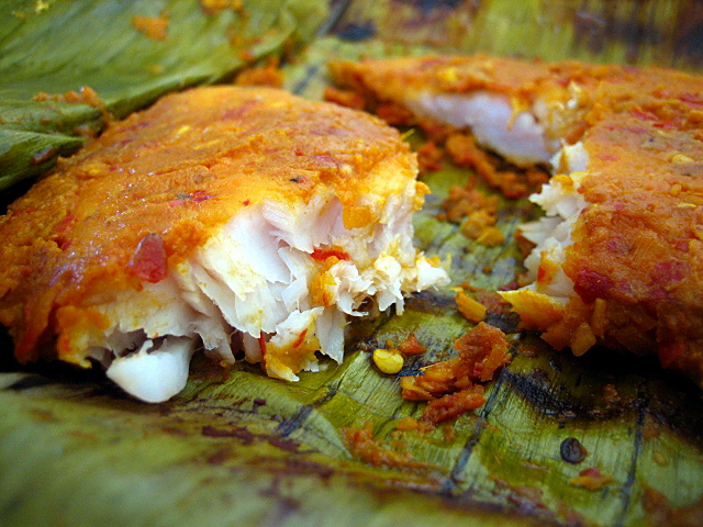 Grilled Fish Wrapped in Banana Leaves) Malaysian Recipe