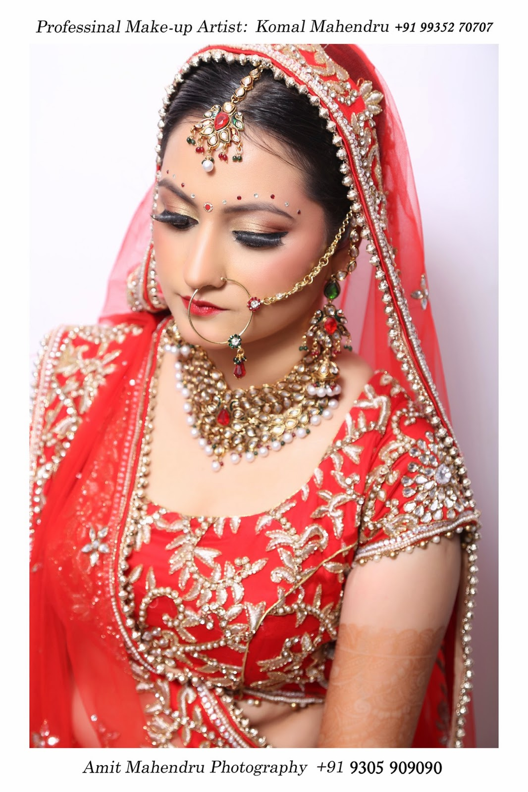 Komal mahendru s professional makeup lucknow india bridal makeup - Professional Bridal Makeup Artist In Lucknow