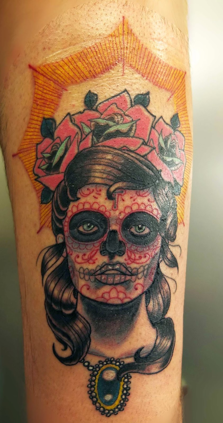 Great Catrina Tattoos Design Idea