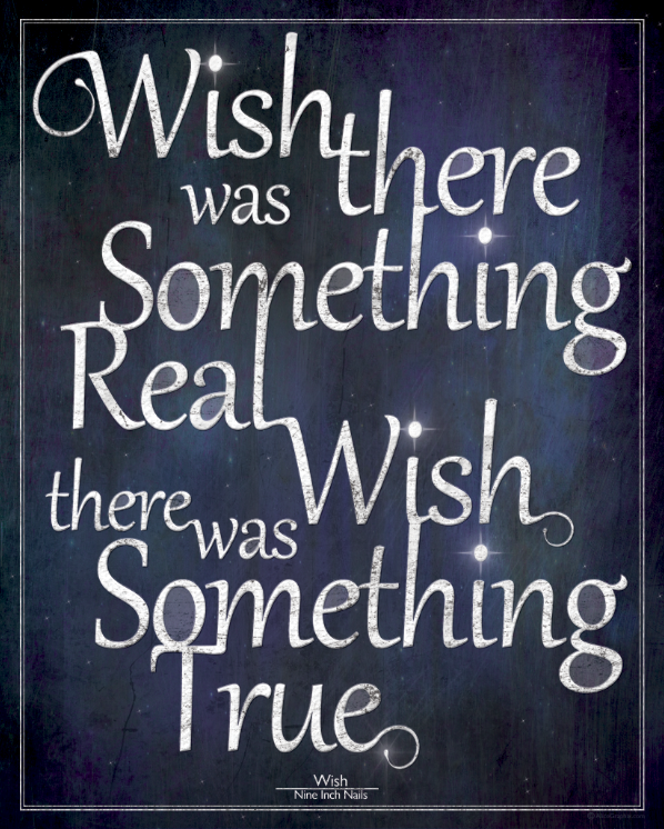 NIN Wish Lyrics Illustration Design Poster Alice Graphix AliceGraphix
