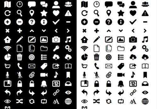 Free Icon Font Sets for UI Design