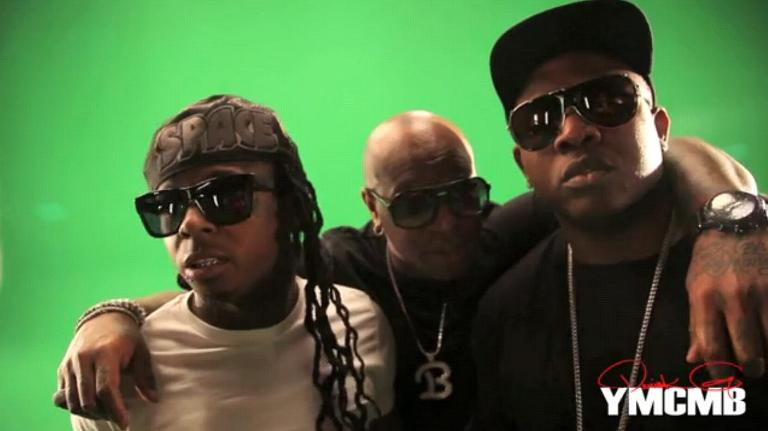 Foto do Lil Wayne, Birdman & Mack Maine no clipe I Get Money