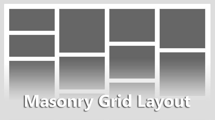 Merapihkan Tampilan Grid Dengan Masonry Grid Layout