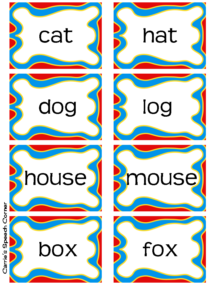 Worksheets Rhyming Sentences Examples carries speech corner rhyme time freebie you can use the cards as a memory game with rhyming words being match could also to play go fish do have word that r