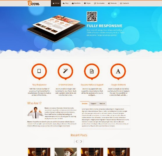 Boom Responsive Multi-Purpose WordPress Theme