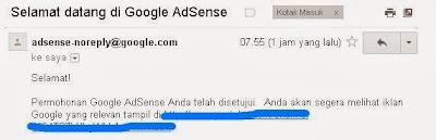 cara mengetahui akun adsense telah disetujui