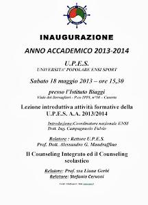 INAUGURAZIONE ANNO ACCADEMICO 2013-2014  - U.P.E.S.- UNIVERSITA' POPOLARE ENSI SPORT