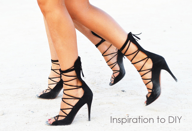 lace up heels DIY