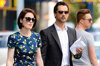 Michelle Dockery and her Irish boyfriend John Dineen in New York earlier this month.