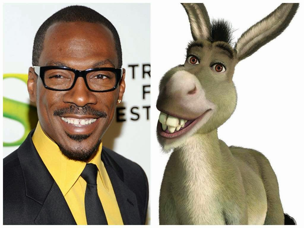 Image result for cartoon characters voices donkey eddie murphy