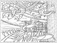 gambar hutan untuk diwarnai