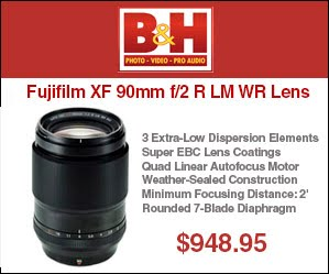 Order the NEW Fujifilm 90mm f/2 lens