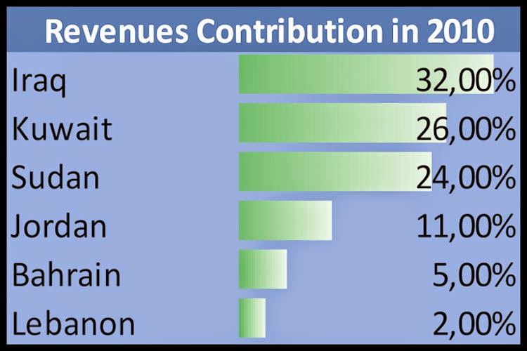 ZAIN-Revenues-Contribution-in-2010
