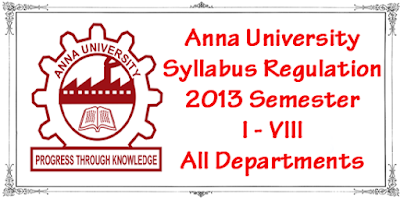 Anna University Syllabus Regulation 2013