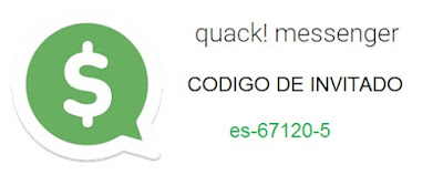 Código de invitación de Quack! Messenger