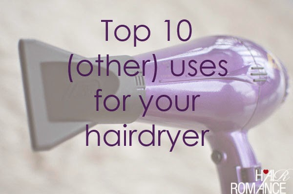 Top 10 (OTHER) Uses for Your Hairdryer
