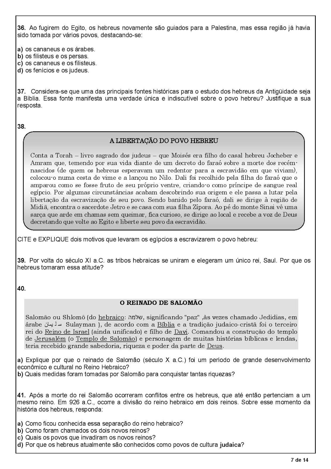 HIST  RIA 6   ANO PROVA AVALIA    O TESTE COM GABARITO ATIVIDADES PARA