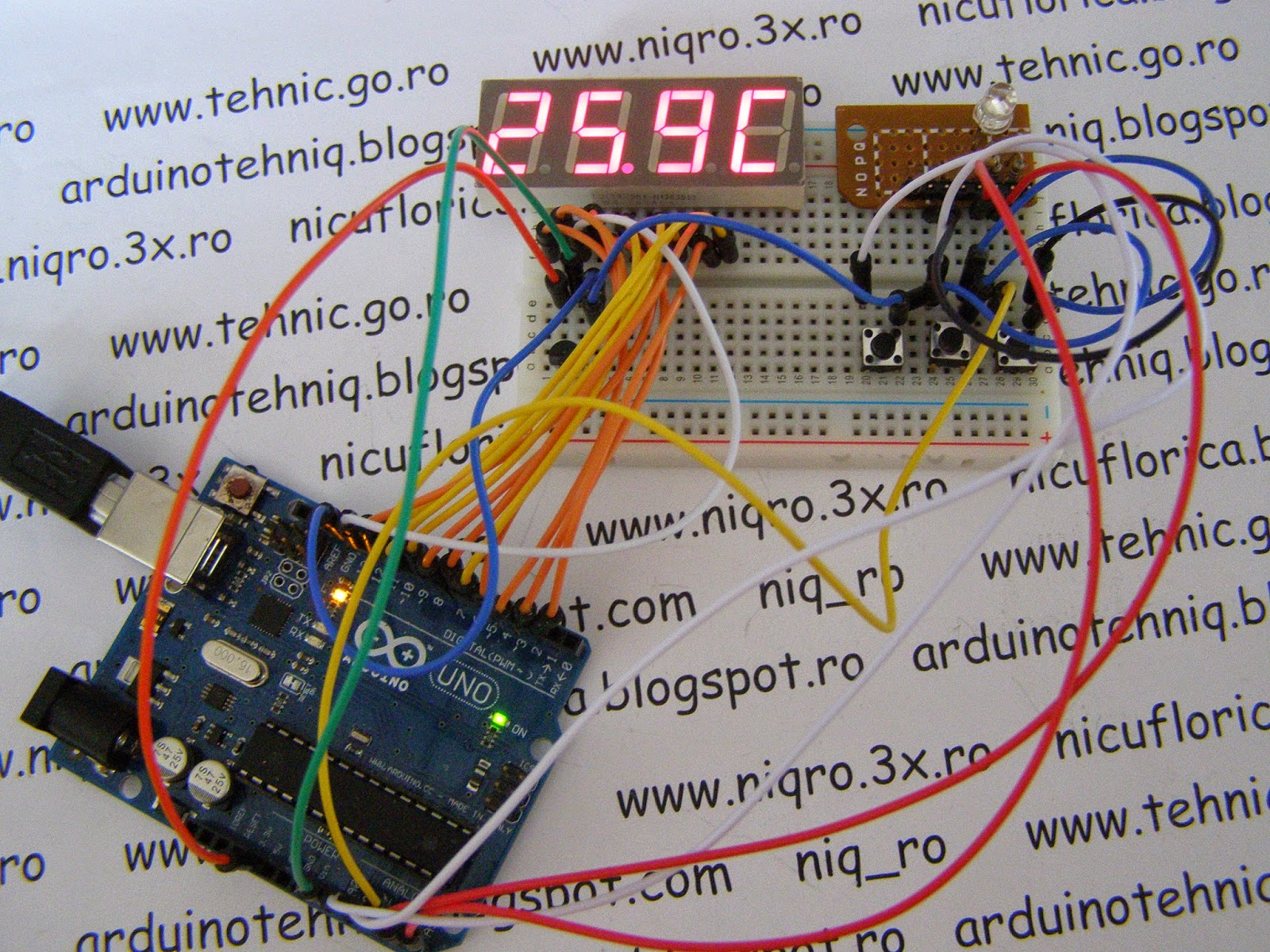 Arduino Tehniq Thermostat On 7 Segment Led Display The 4digit 7segment Driver Circuit We Will Build Using A I Designed With