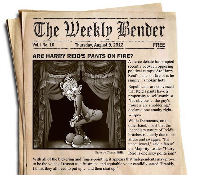 Harry Reid Pants On Fire Editorial Cartoon by Chavah Billin