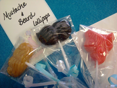 mustache and beard lollipops, hoorah!!