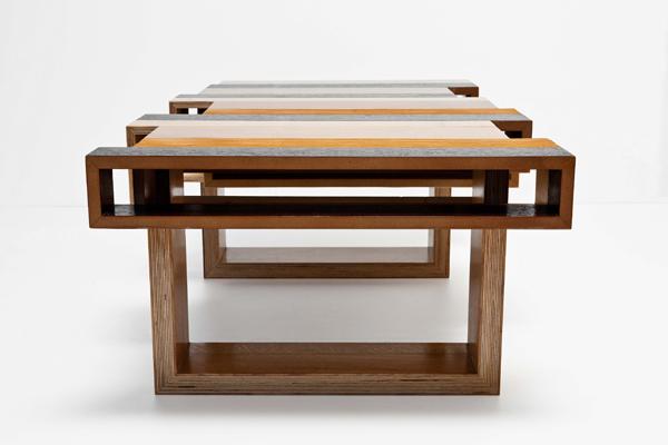 Mesas de dise o con madera reciclada espacios en madera for Diseno de muebles con madera reciclada