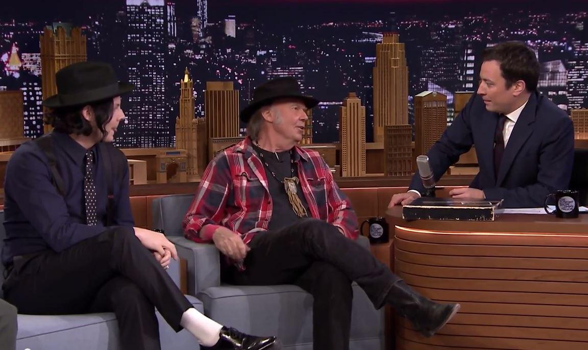 Jack White, Neil Young, Jimmy Fallon
