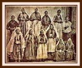 costume della Terska dolina di 100 anni fa ca