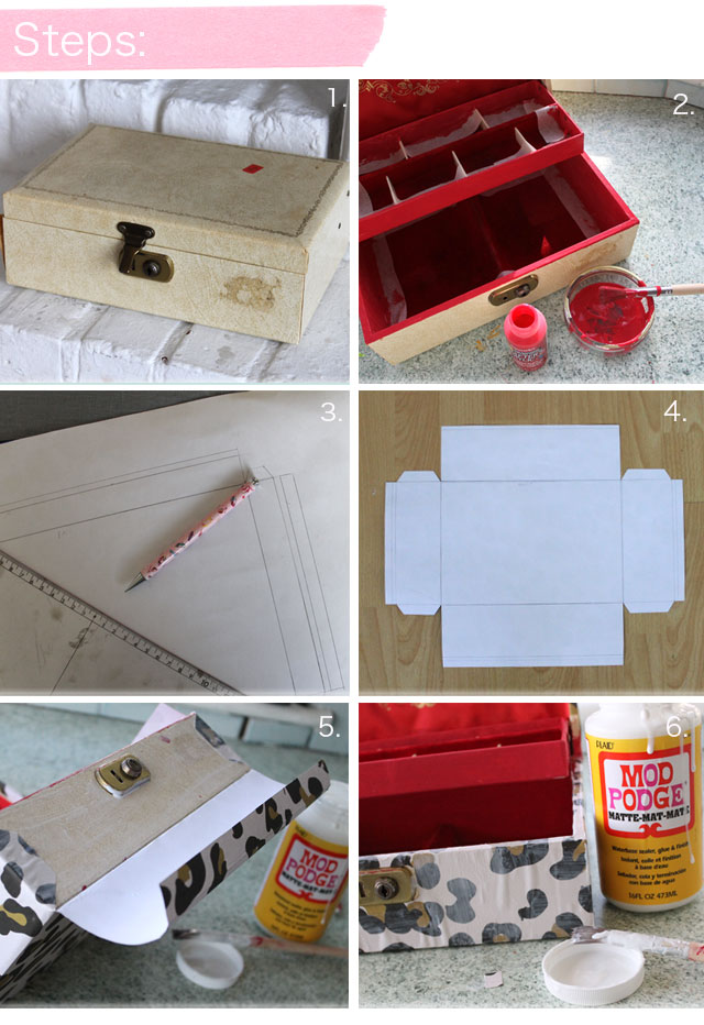 DIY Jewellery Box Lotts and Lots Making the everyday beautiful